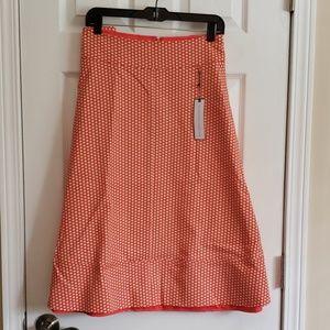 Lane Bryant Orange Poka Dot Skirt 24w